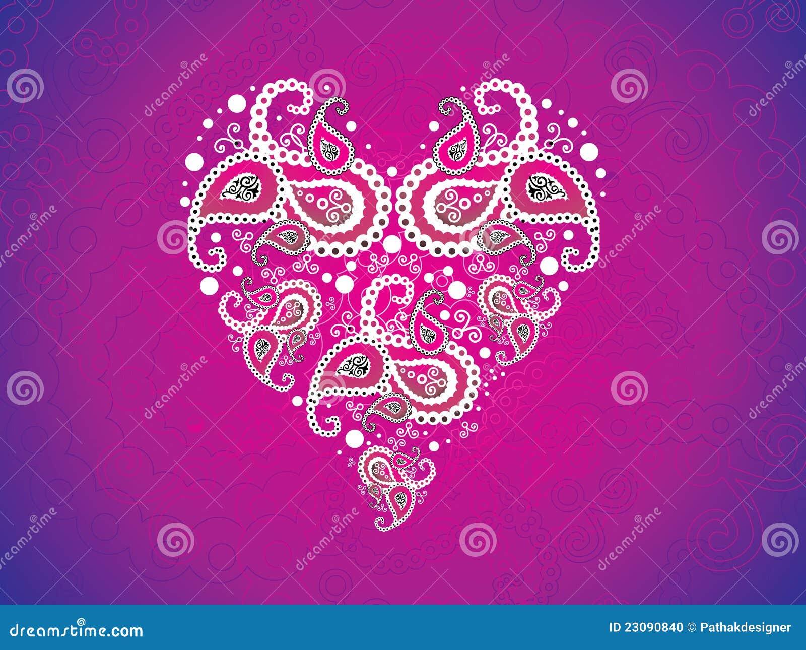 Carta da parati dentellare artistica astratta del cuore for Carta da parati artistica
