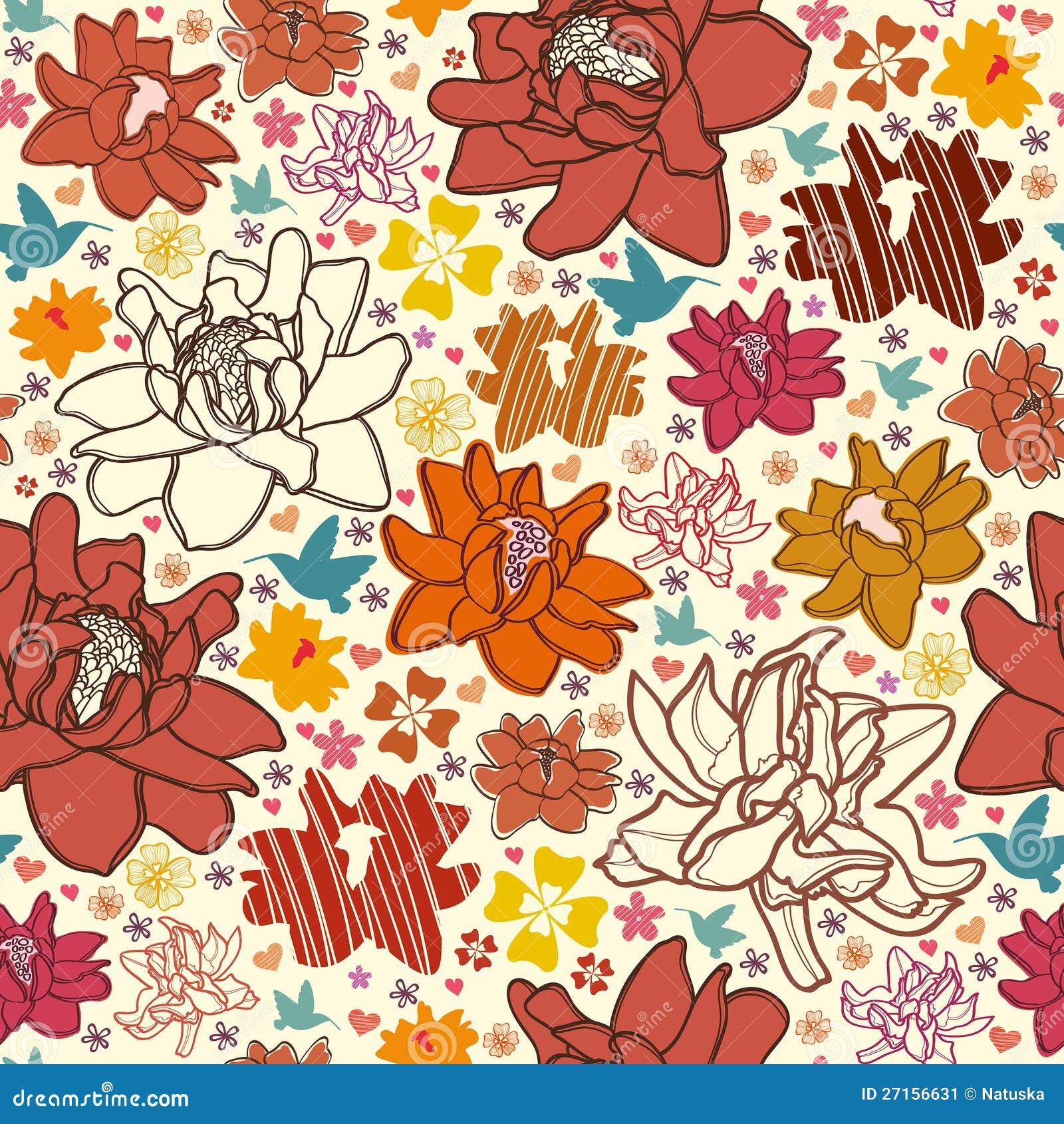 Carta da parati di colore rosso del fiore immagine stock for Carta da parati colorata