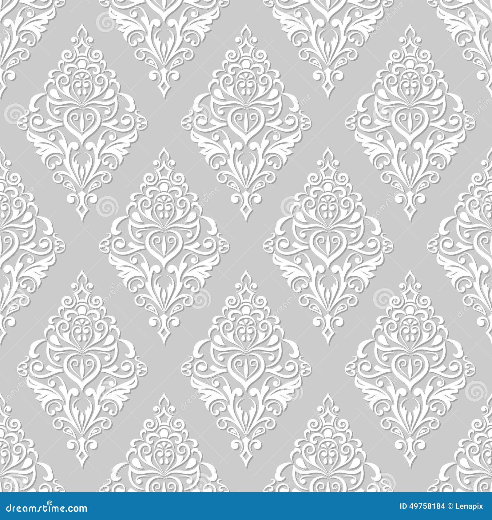 carta da parati floreale bianca e grigia illustrazione