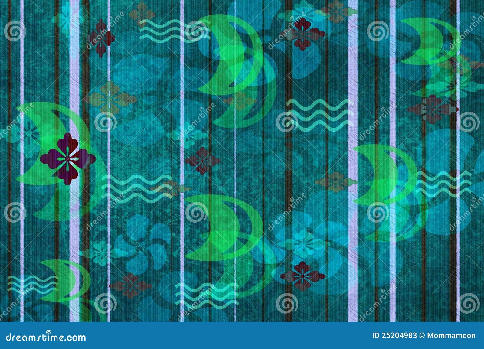 Carta da parati a righe verdi: carta da parati a righe mare d ...