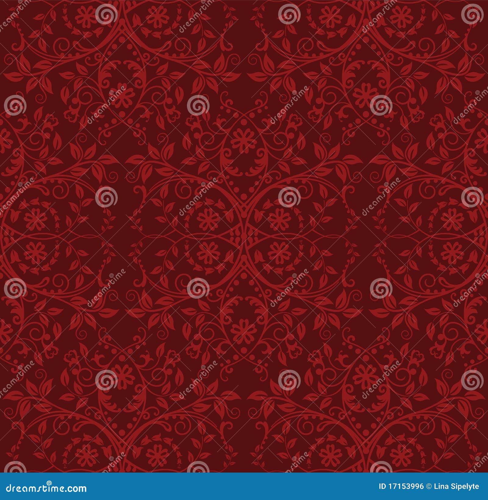 carta da parati floreale rossa senza giunte immagine stock