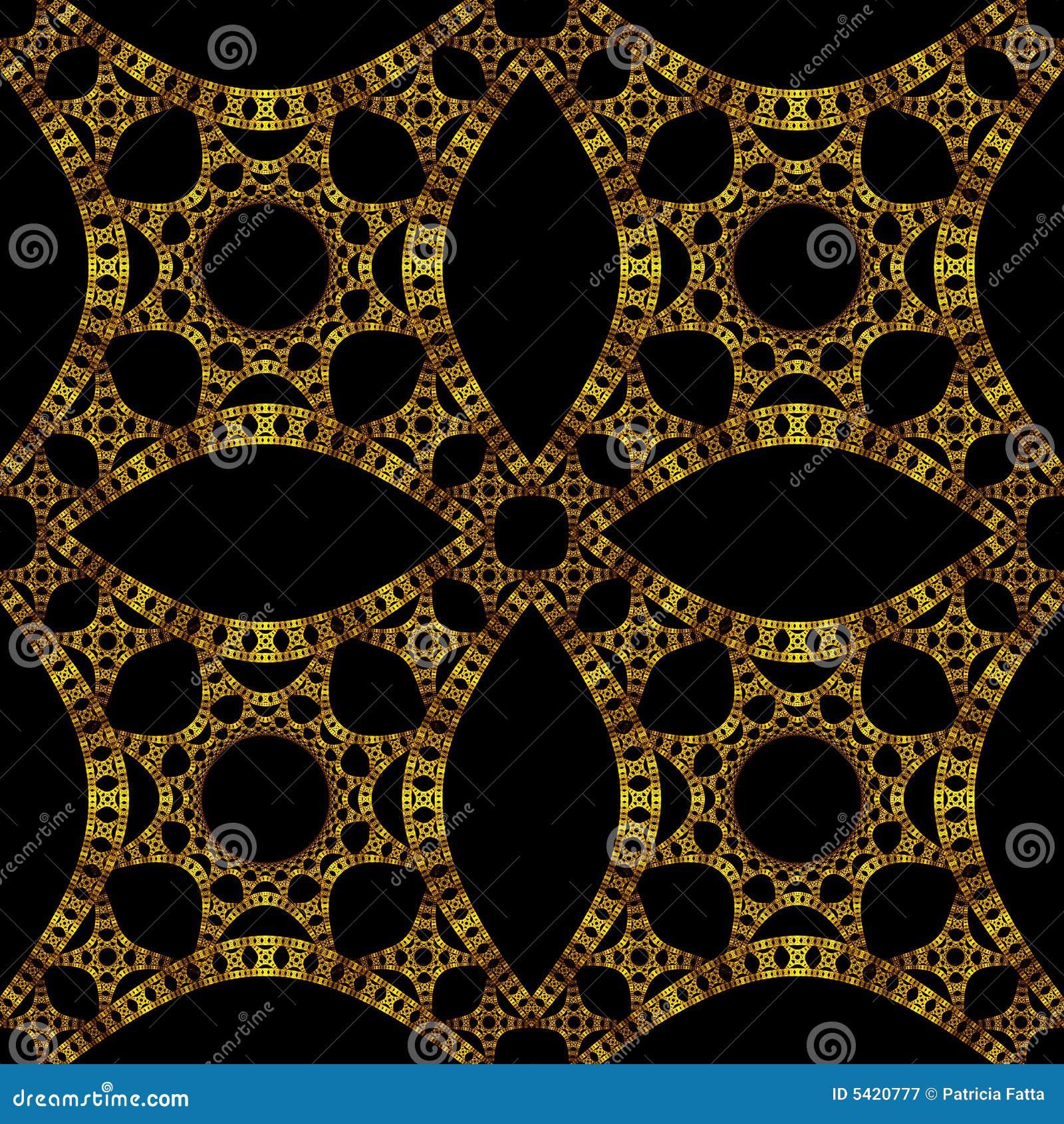 Carta da parati gotica dell 39 oro illustrazione di stock for Carta da parati damascata oro