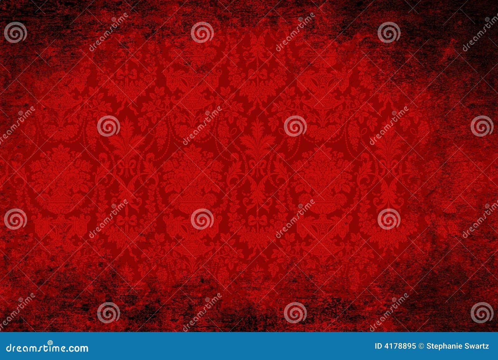 Carta da parati rossa del velluto fotografia stock libera for Carta da parati damascata rossa