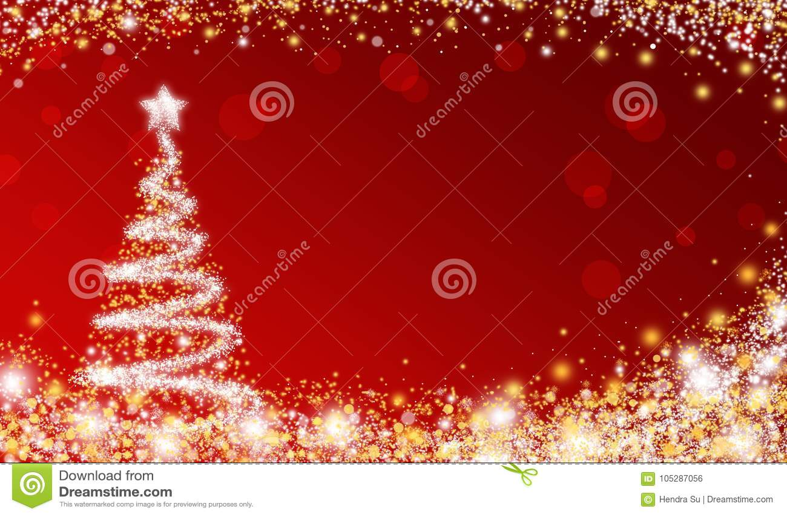 Carta da parati rossa dell albero di Natale della scintilla
