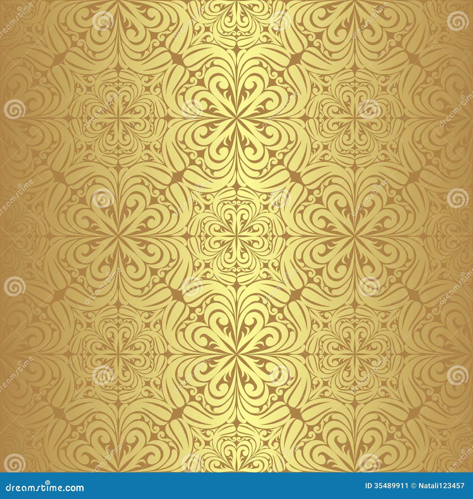 Carta da parati senza cuciture dorata di lusso immagine for Carta parati lusso
