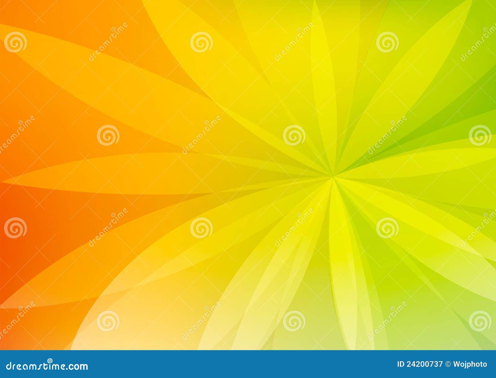 Carta Da Parati Verde Ed Arancione Astratta Della Priorità Bassa