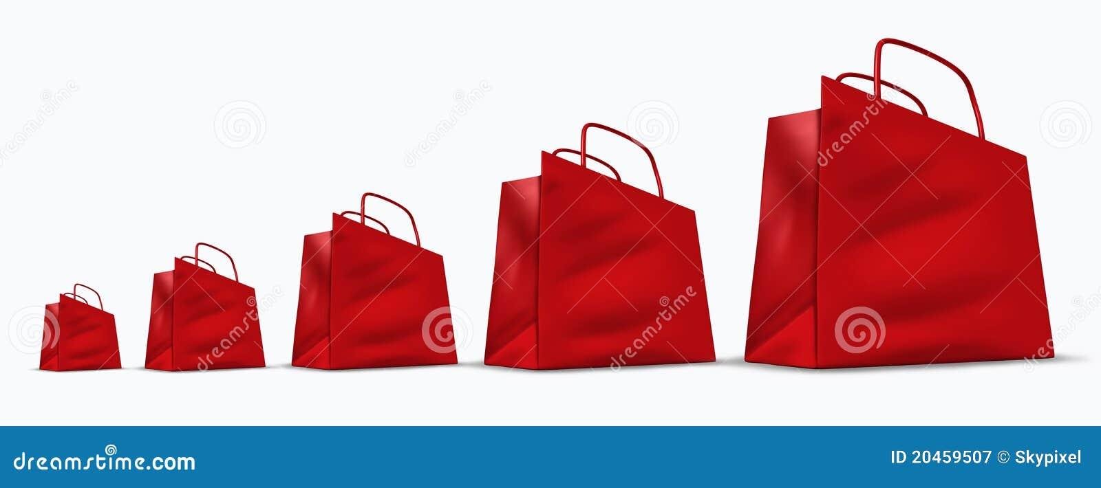 Carta das vendas de varejo