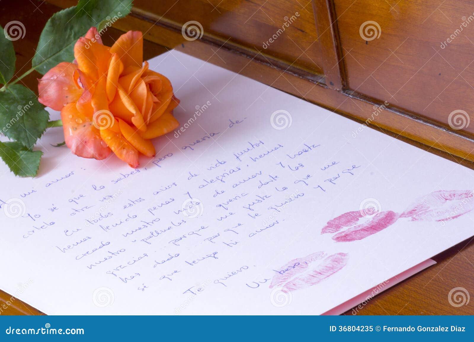 Carta De Amor Stock Afbeelding Afbeelding Bestaande Uit Rosa 36804235