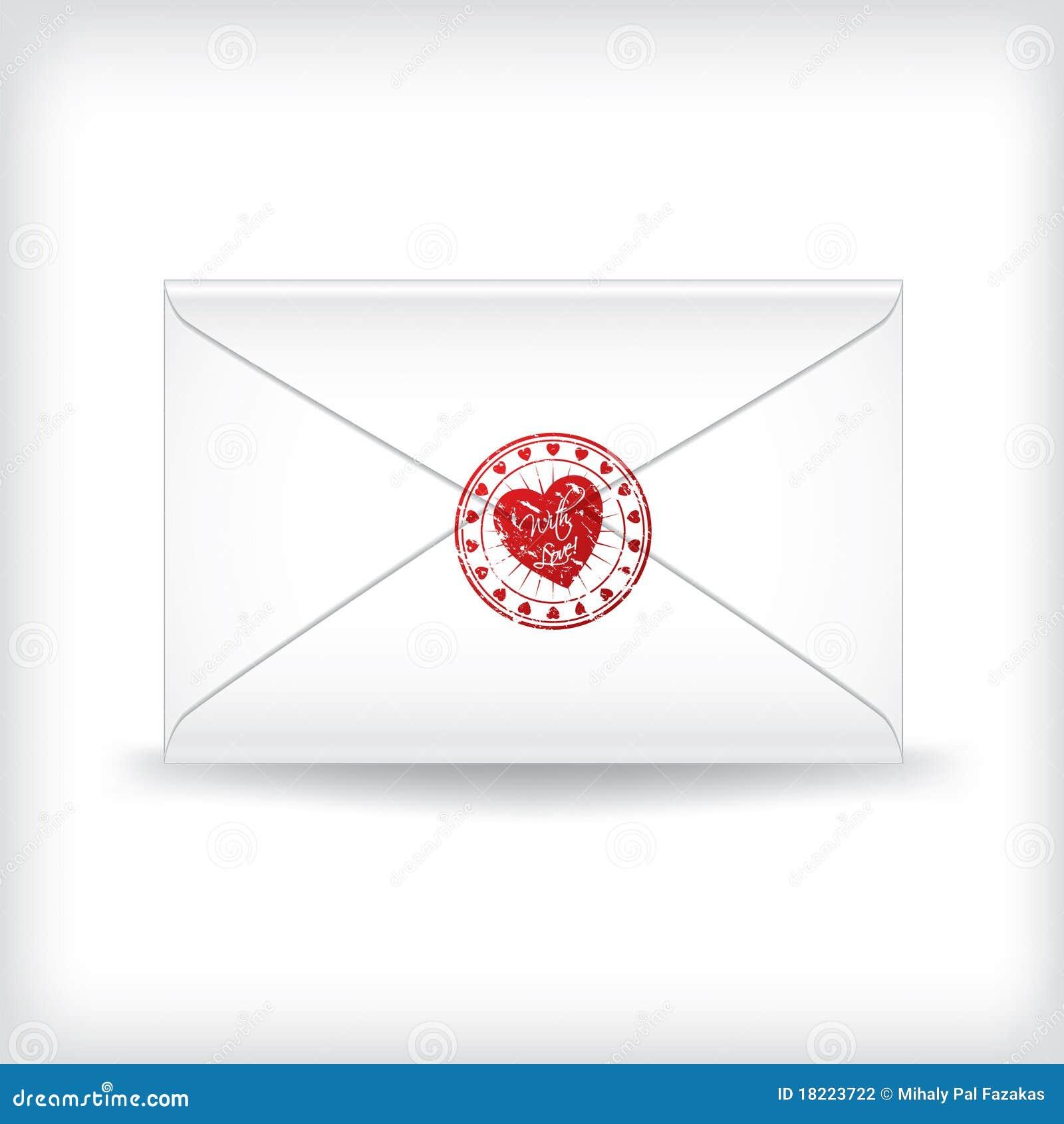 Carta De Amor Sellada Sello Ilustración Del Vector Ilustración De