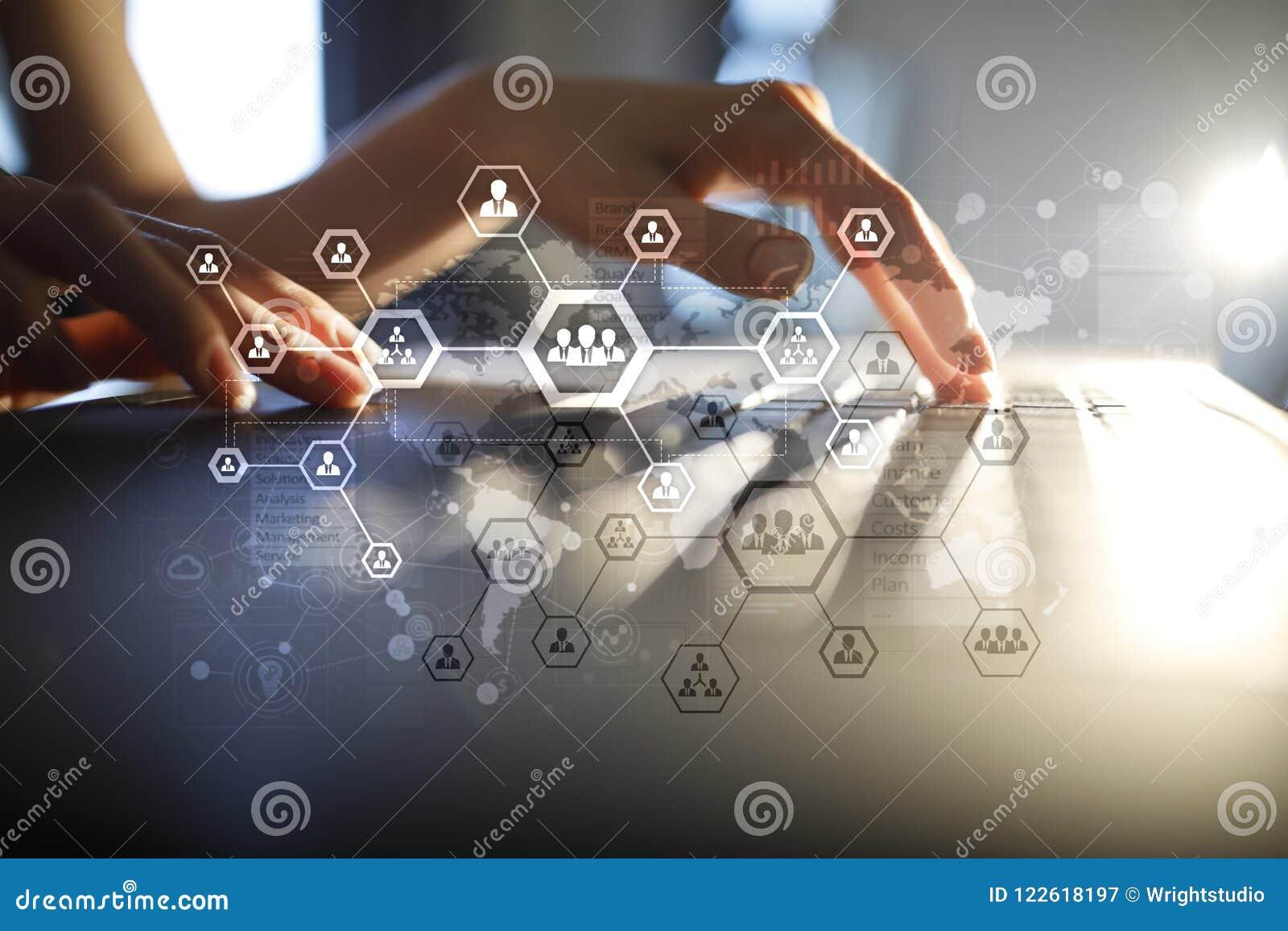 Carta de estrutura da organização, rede de comunicação do ` s dos povos Hora, recursos humanos