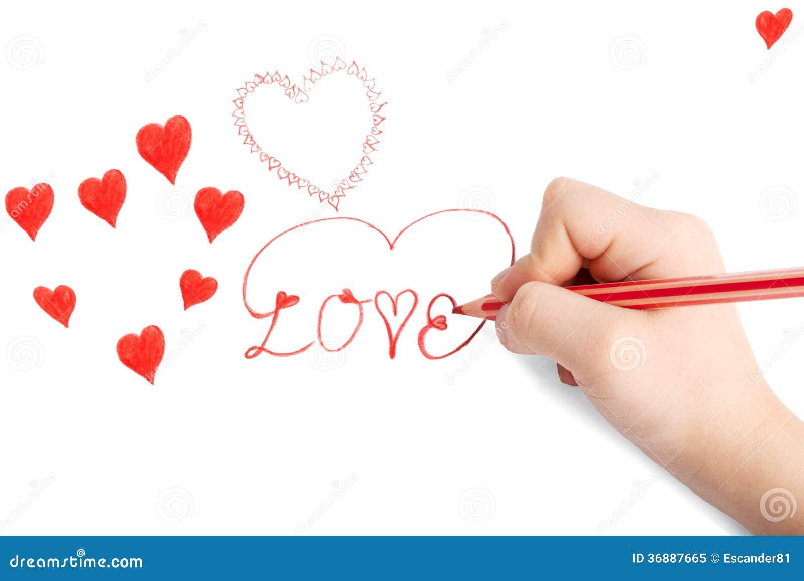 Download Carta Del Biglietto Di S. Valentino Del San Del Disegno Della Mano Di Childs Illustrazione di Stock - Illustrazione di poco, cuore: 36887665
