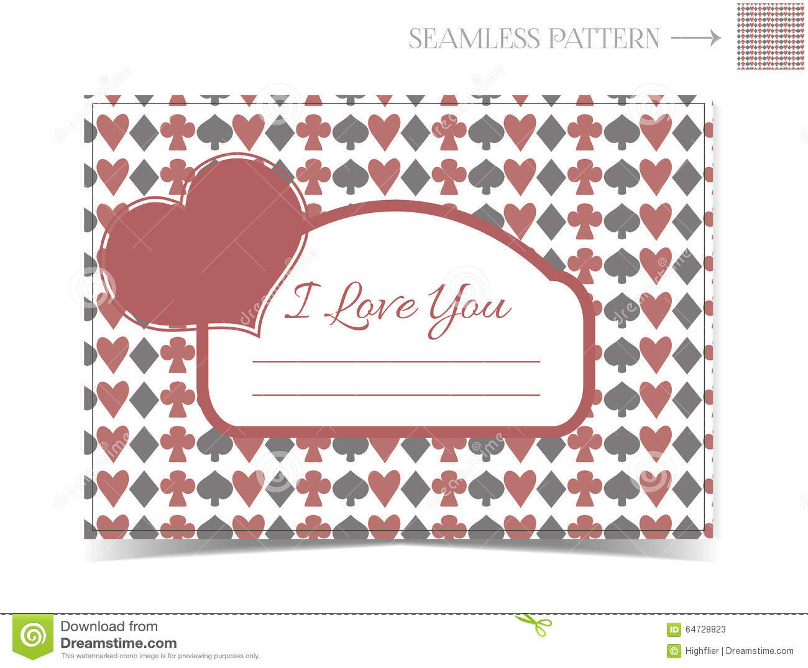 Carta del biglietto di S. Valentino per Valentine Day