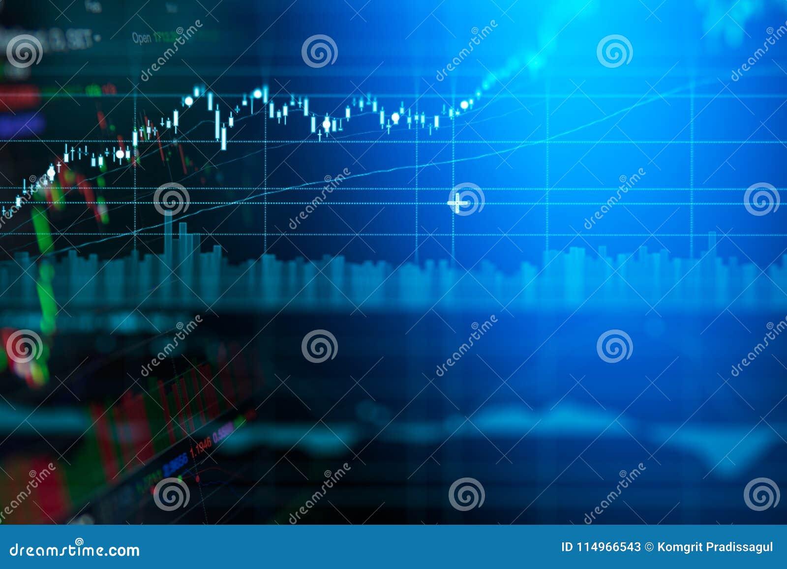 Carta del gráfico de la palmatoria del negocio del comercio de la inversión del mercado de acción