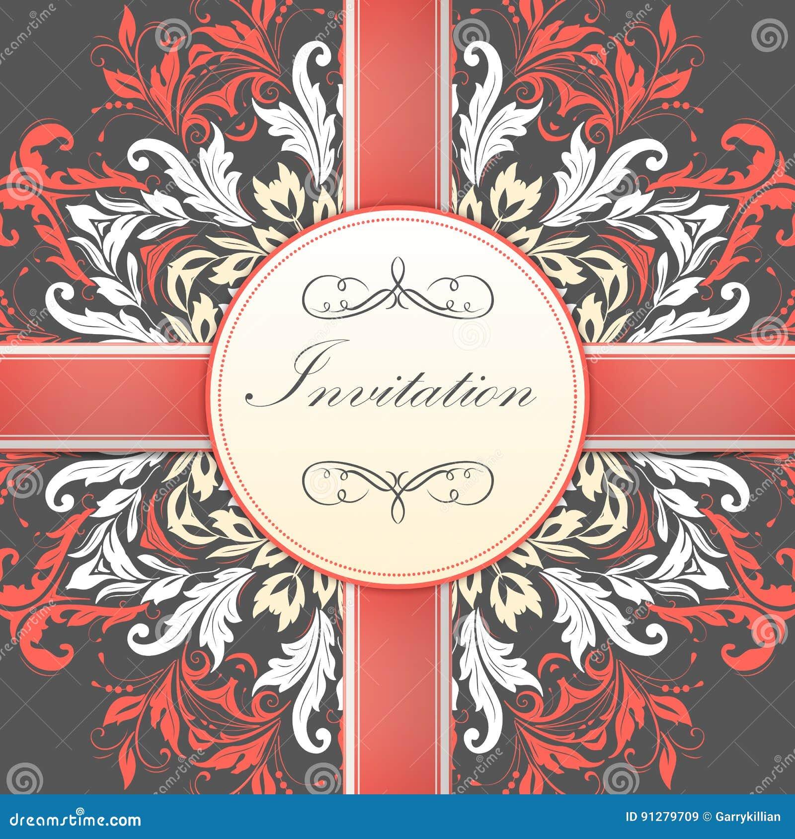 Carta dell invito e di annuncio di nozze con pizzo rotondo ornamentale con gli elementi di arabesque Stile di Mehndi oriente