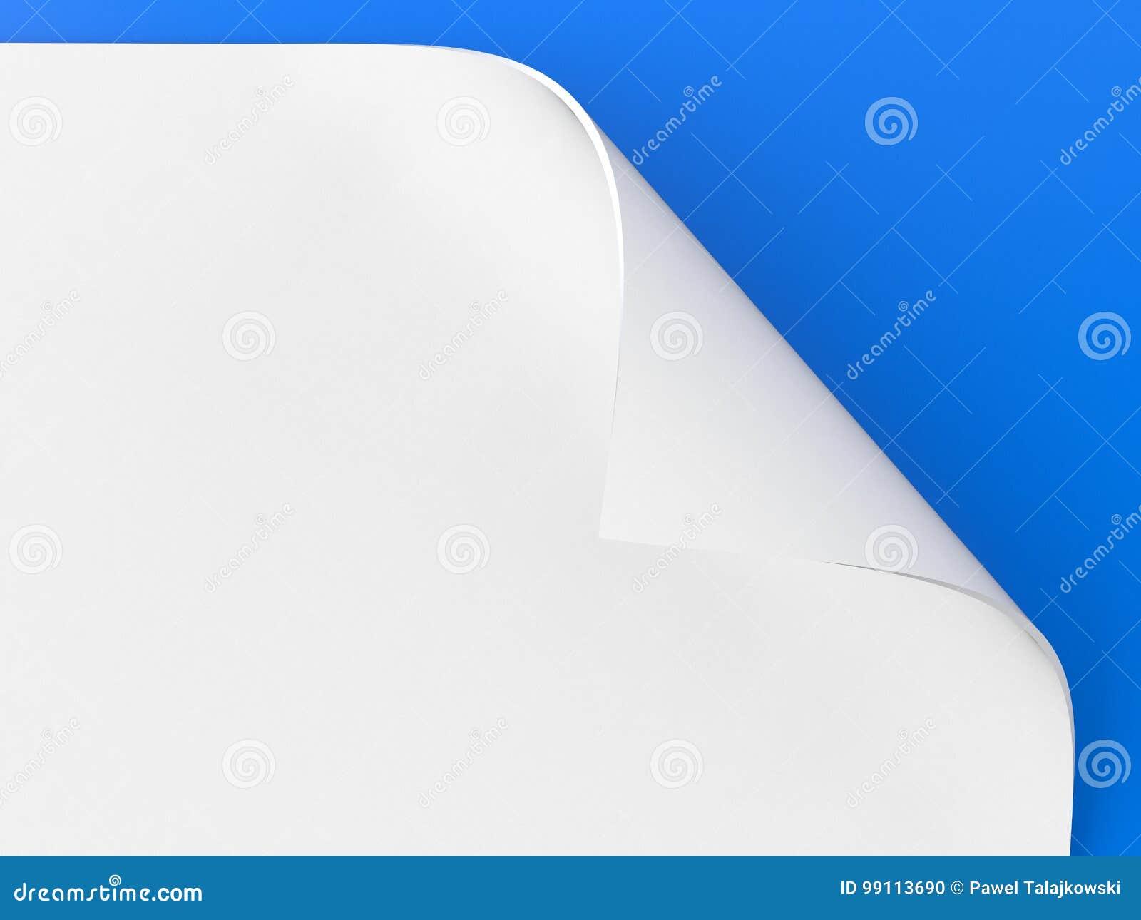Carta della curvatura isolata sullo schermo blu