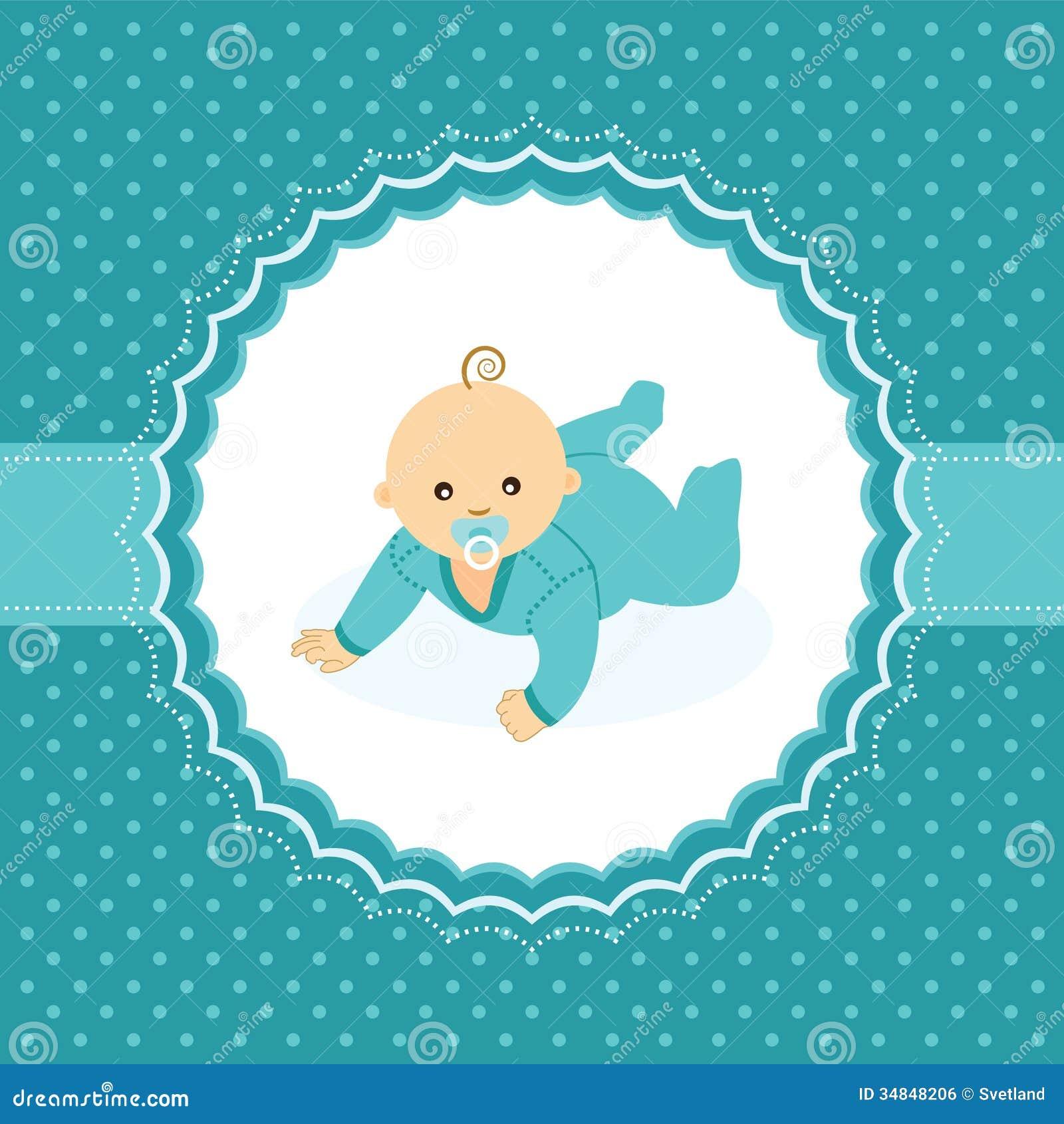 Carta di annuncio del neonato.