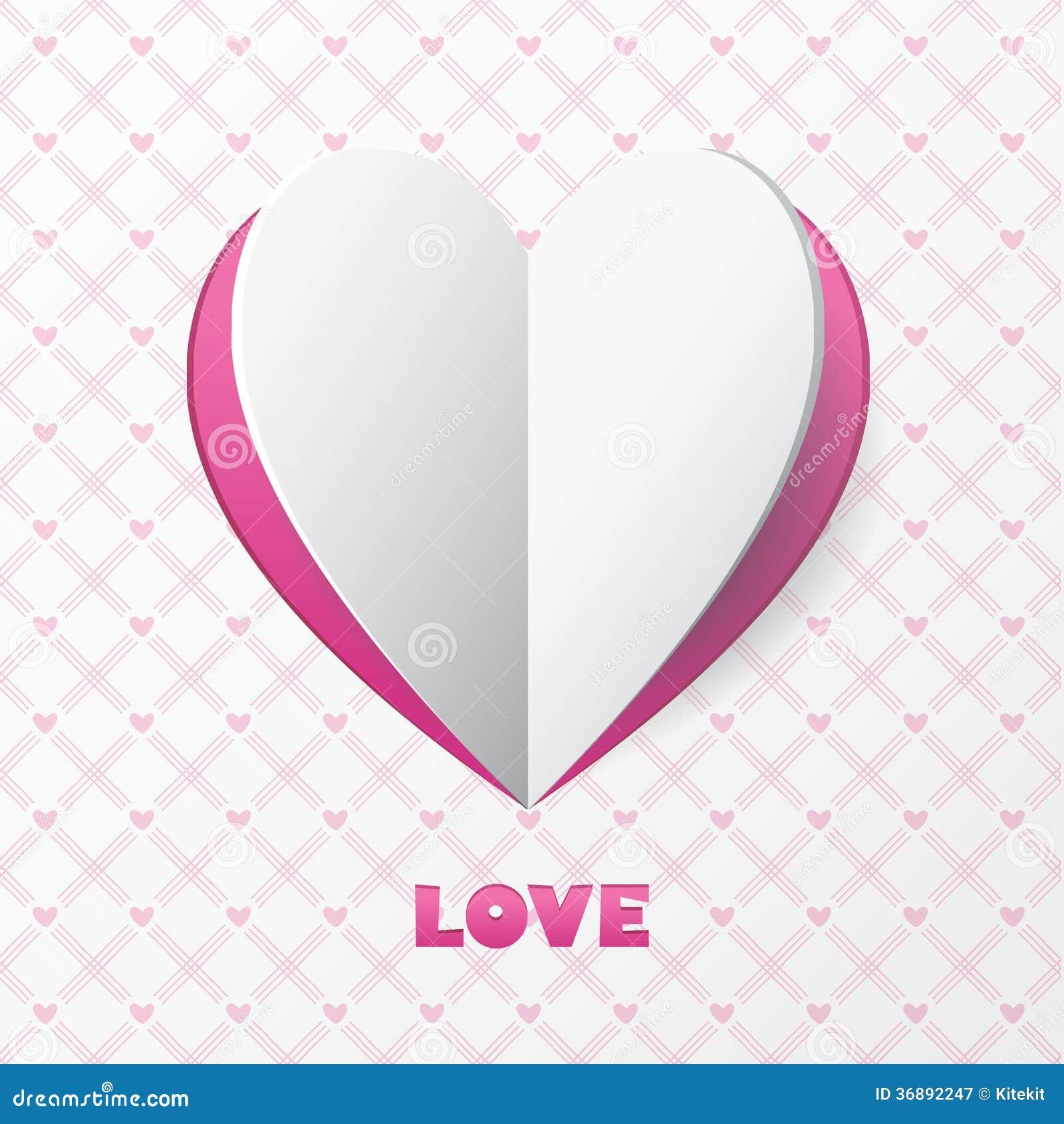 Download Carta Di Carta Di Amore Del Cuore. Modello Per La Cartolina D'auguri Di Progettazione, Weddin Illustrazione Vettoriale - Illustrazione di cuore, modo: 36892247
