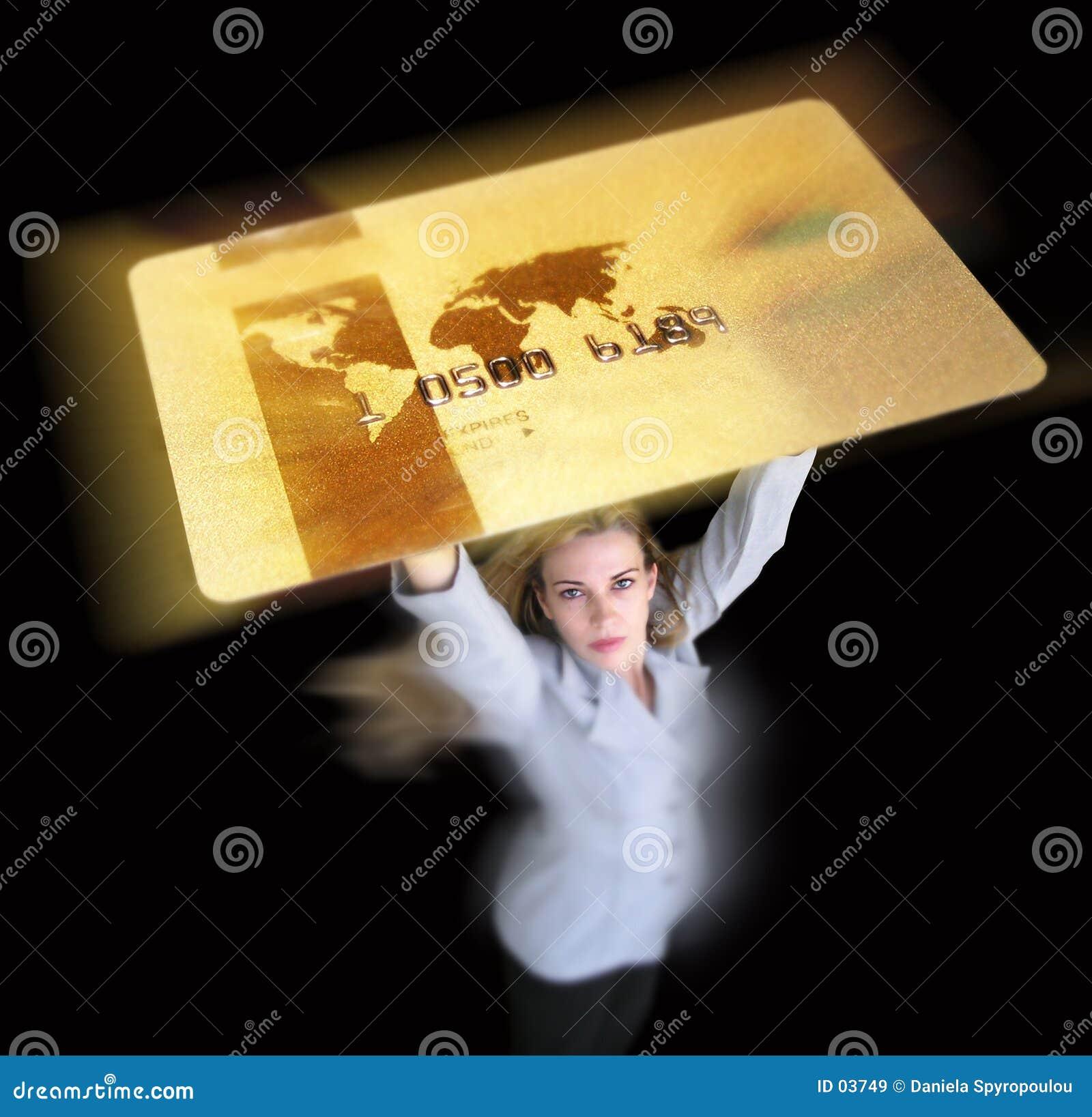 Download Carta di credito immagine stock. Immagine di commercio, businesswoman - 3749