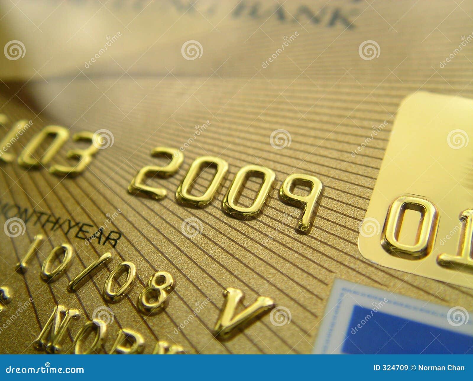 Carta di credito dorata