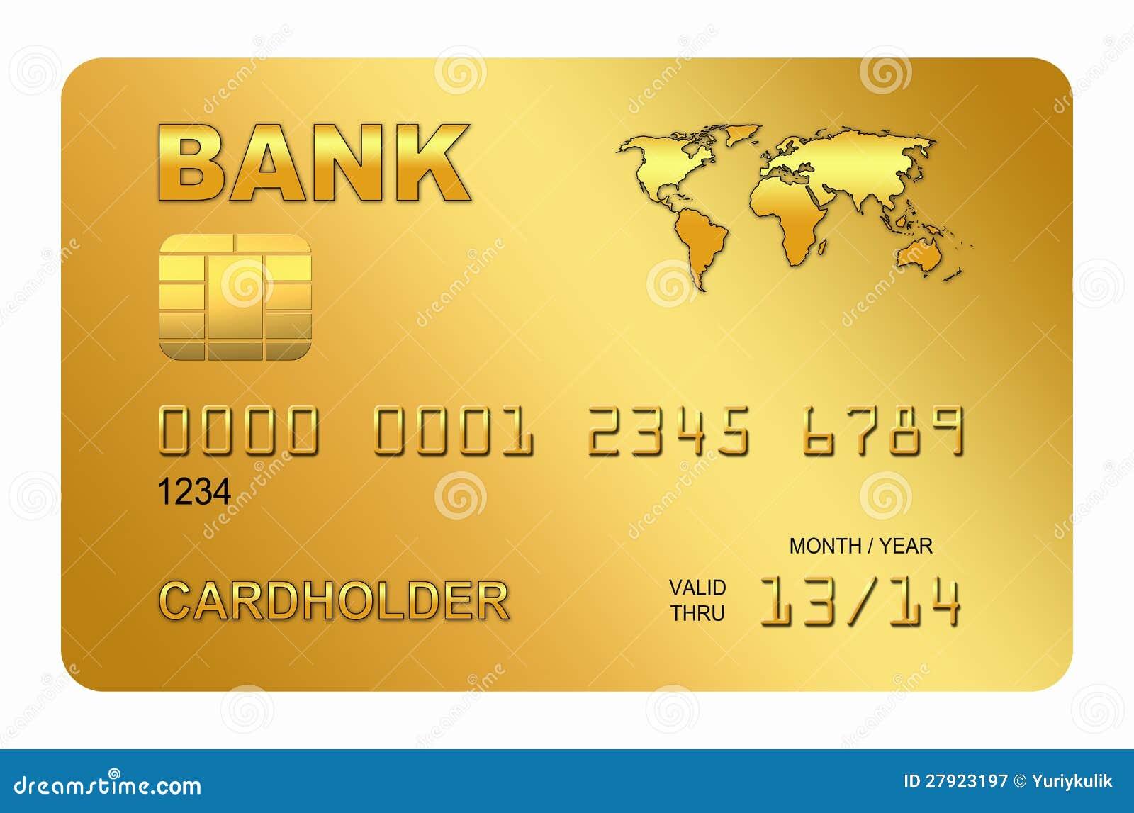 Carta Di Credito Stilizzata Illustrazione di Stock - Immagine: 27923197