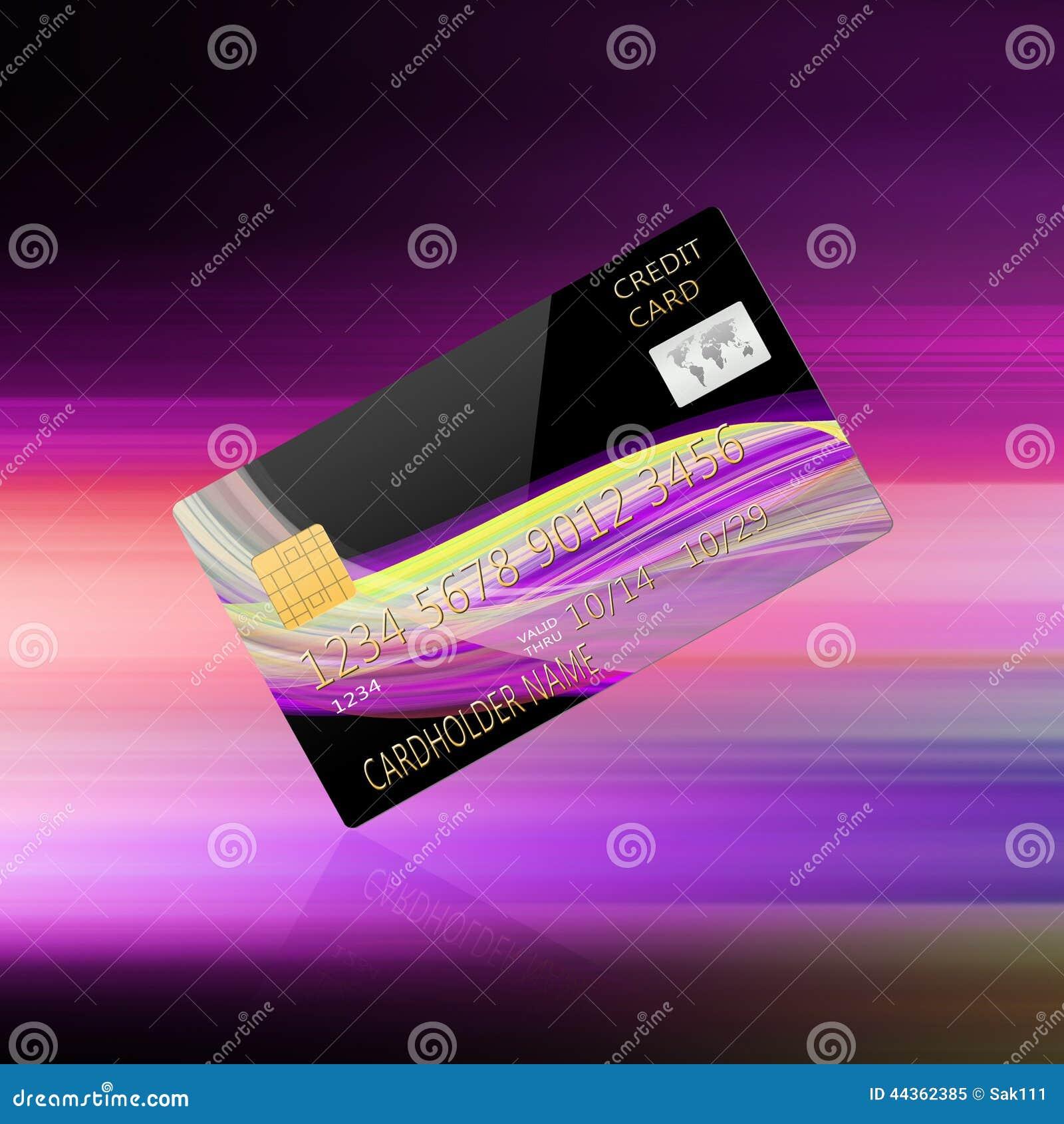 Carta di credito su fondo astratto