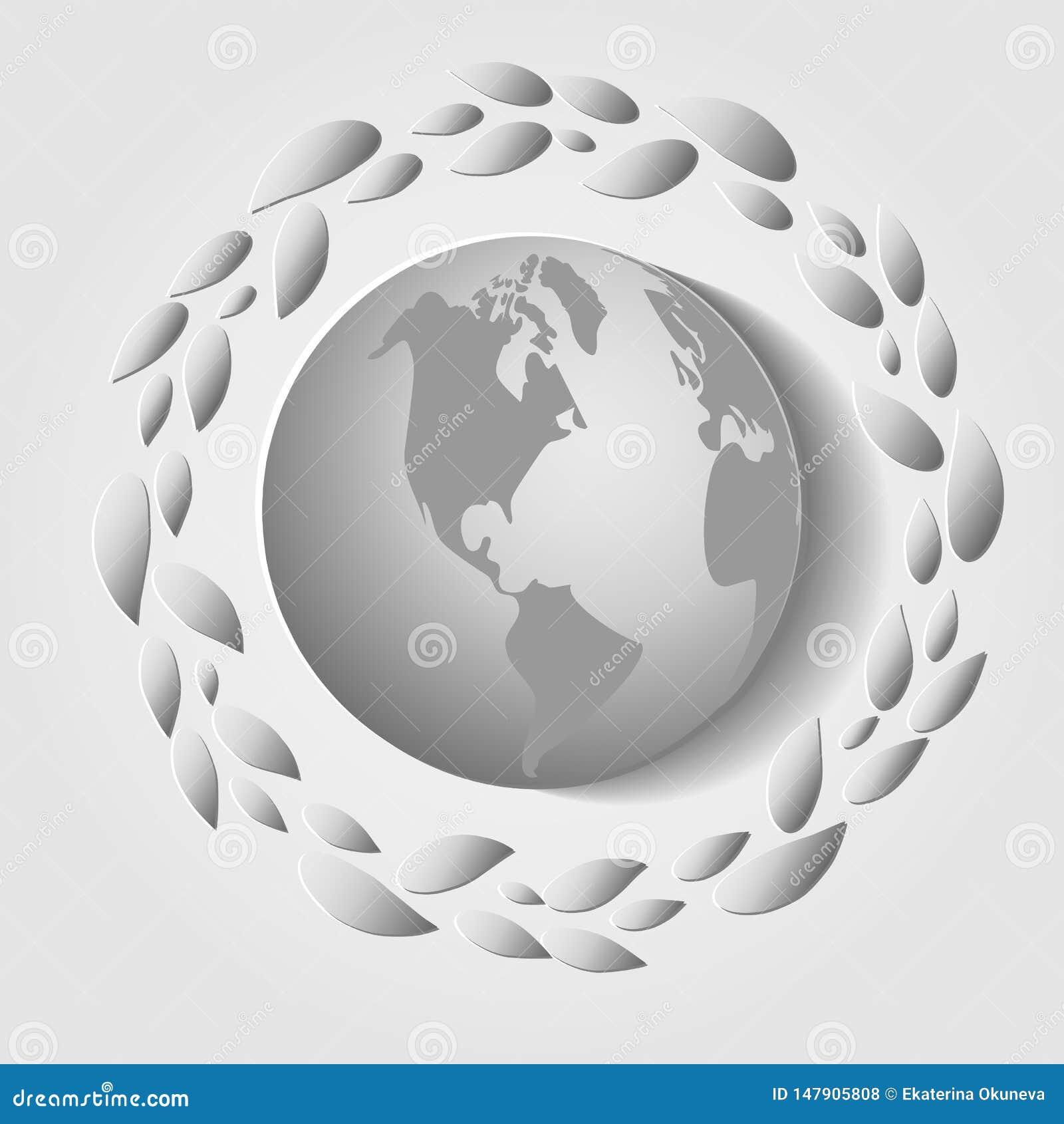 Carta di Giornata mondiale dell ambiente Illustrazione di vettore
