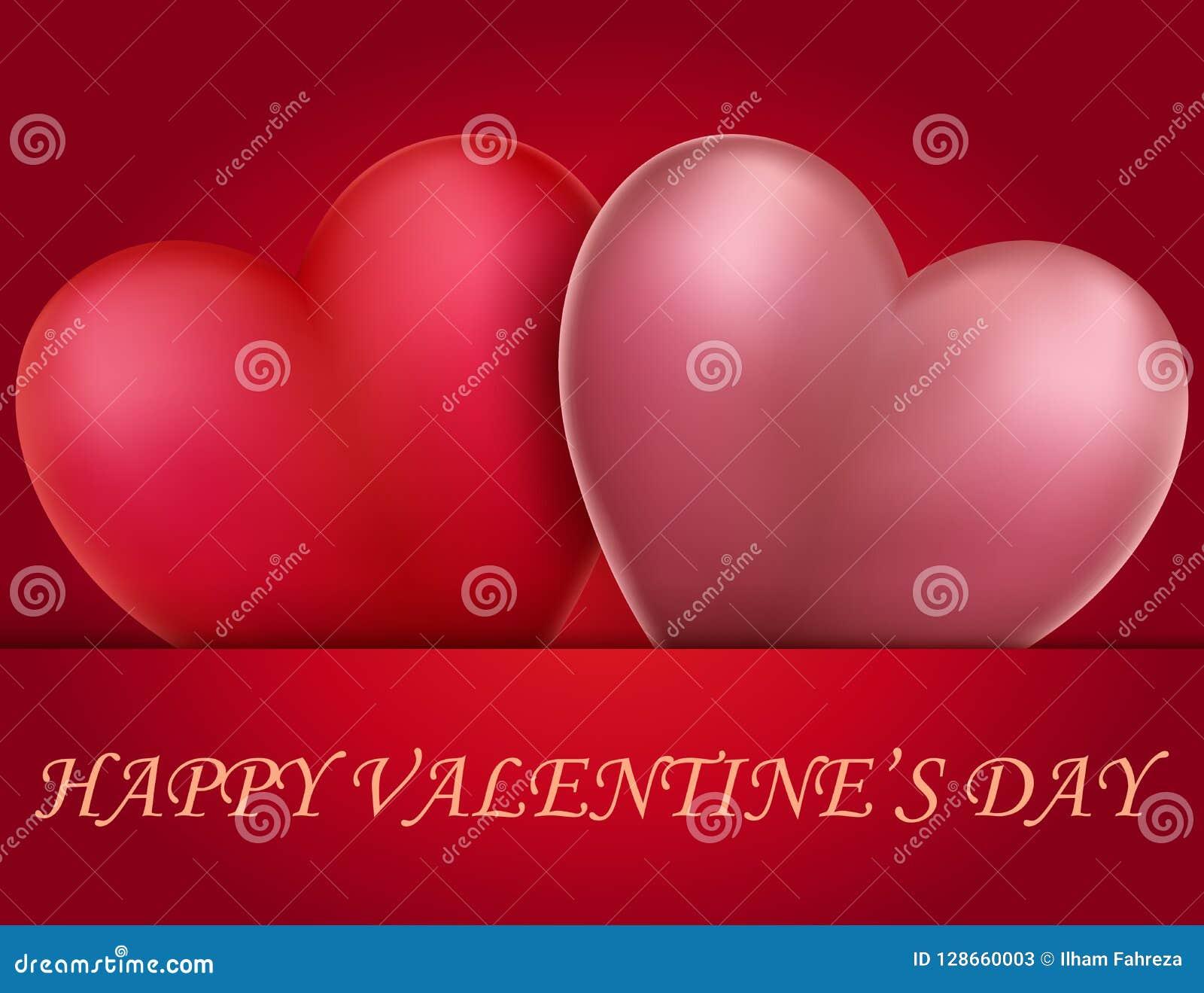 Carta di giorno di biglietti di S. Valentino con il cuore di impulso