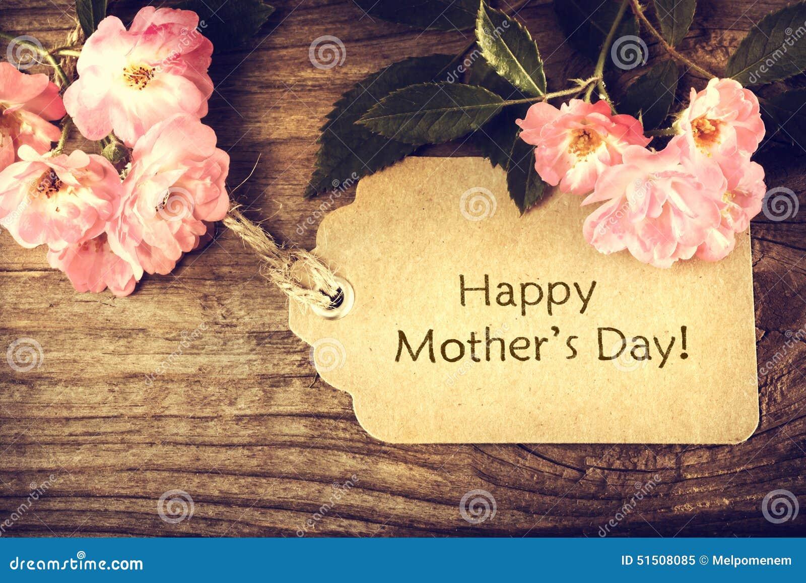 Carta di giorno di madri con le rose
