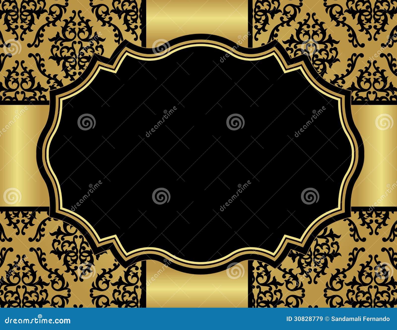 Carta di lusso dell invito con il modello senza cuciture del damasco