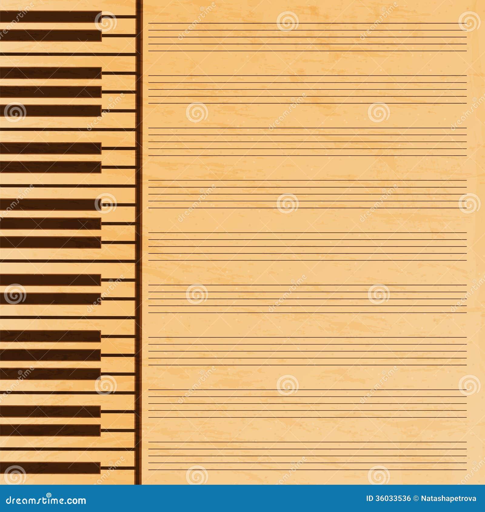 Carta di musica decorata con il fondo di musica paper.grunge effect ...