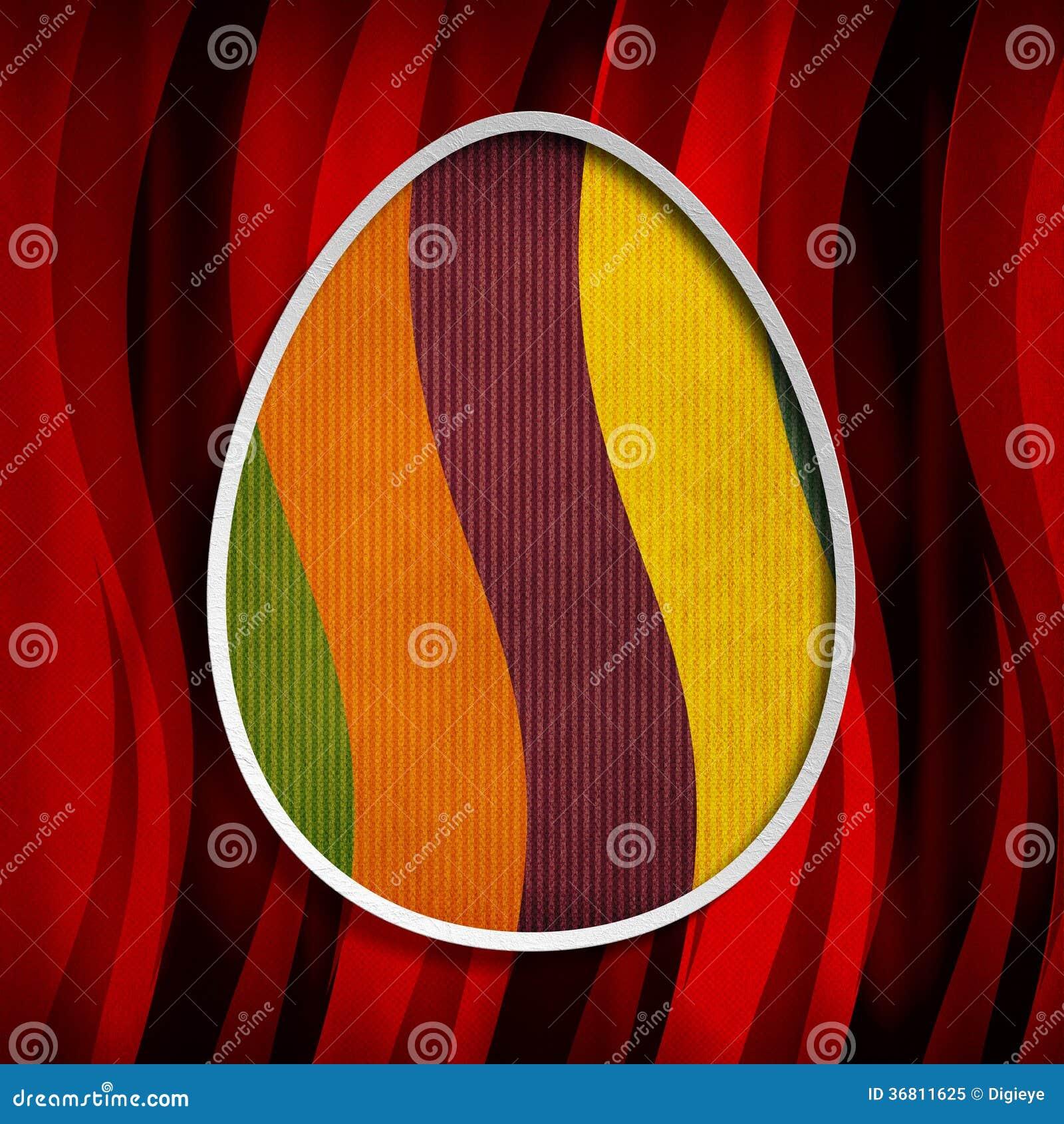 Carta di pasqua felice - forma dell uovo