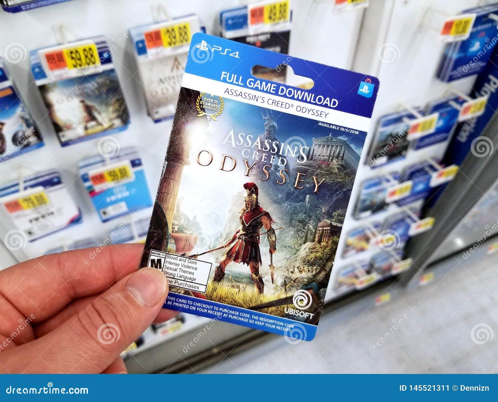 Carta di regalo di un video gioco in una mano