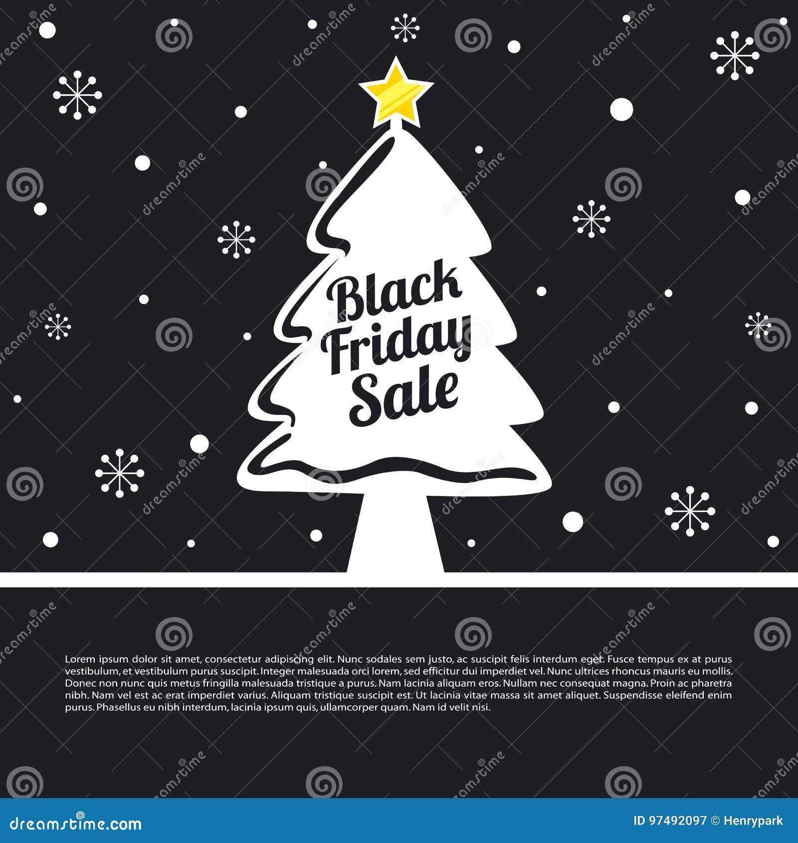Carta di vendita di Black Friday