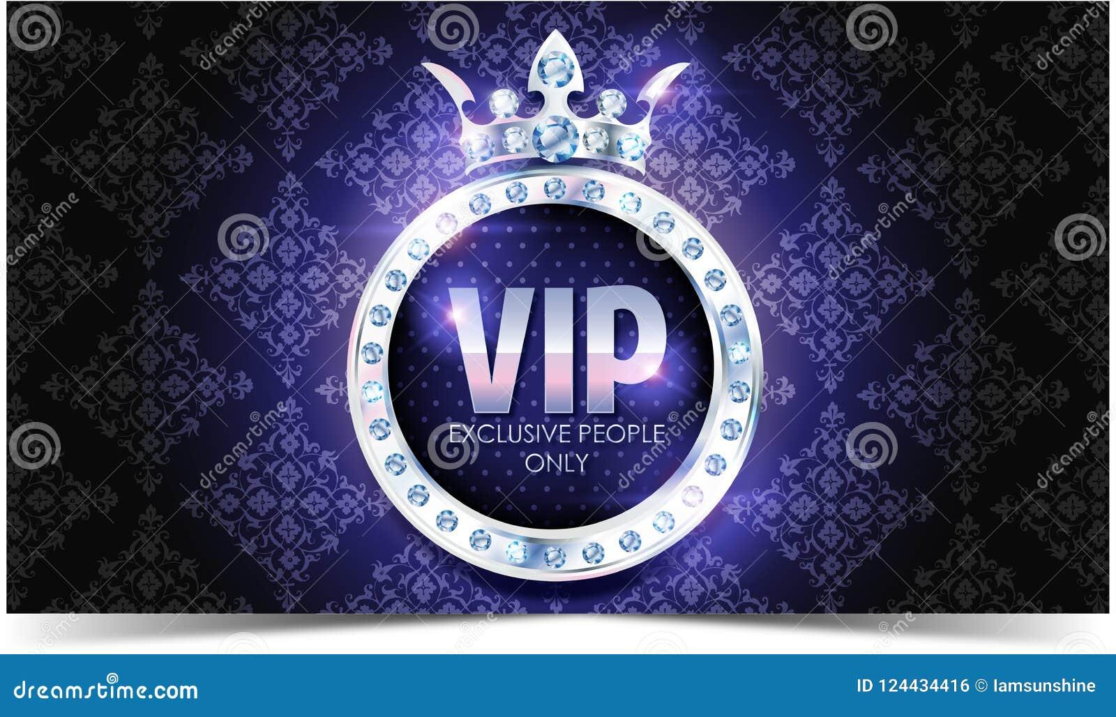 Carta di VIP Fondo d argento Qualità di premio crown