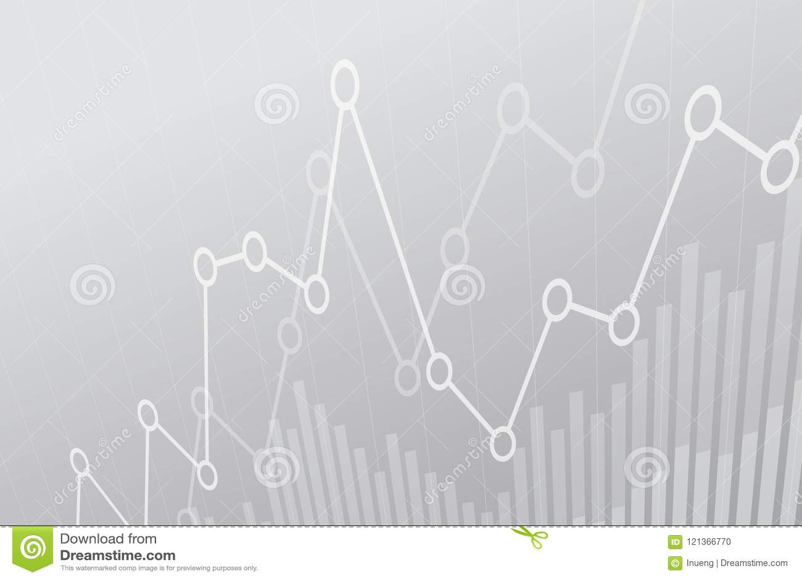 Carta financiera abstracta con la línea gráfico de la tendencia al alza en fondo gris