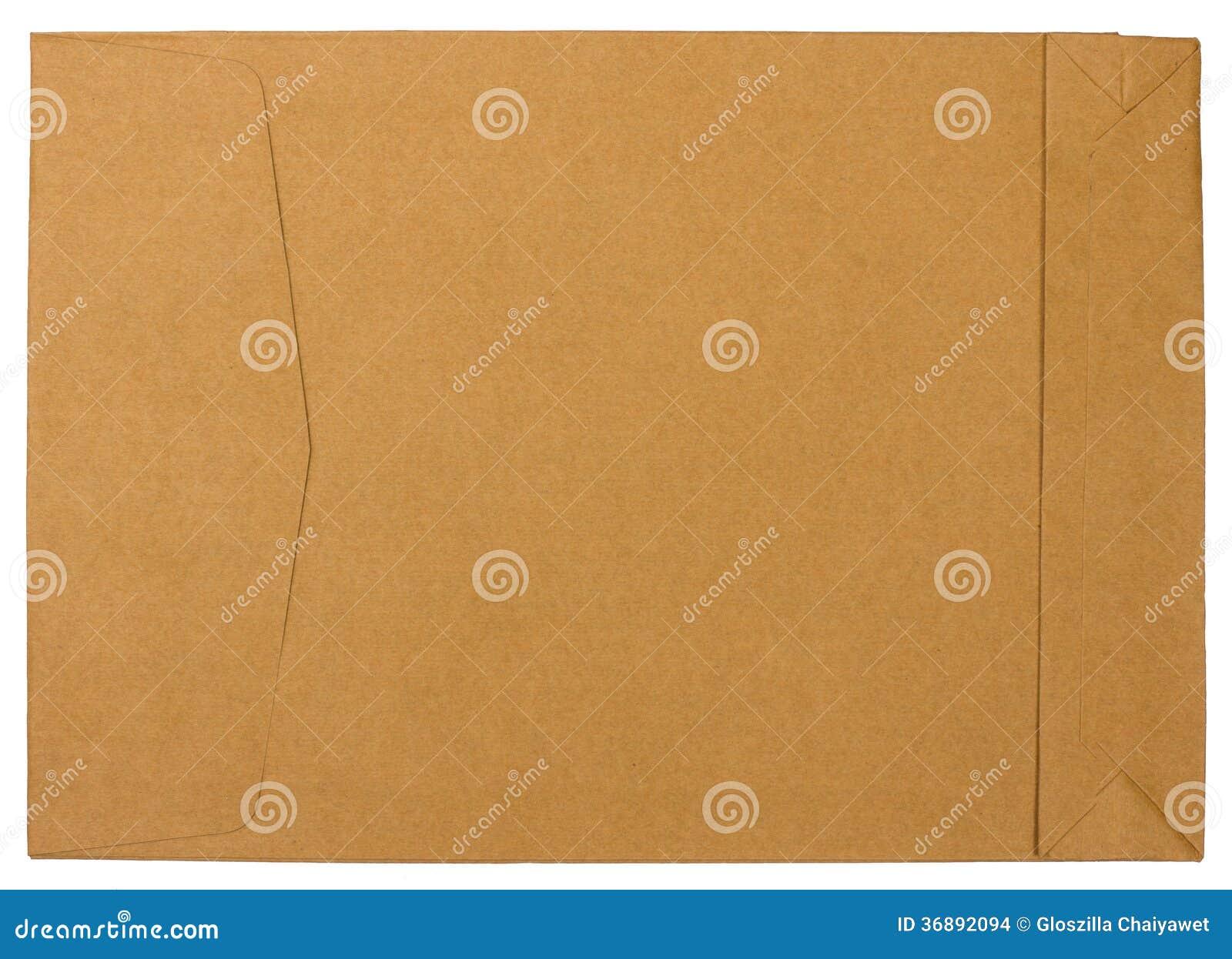 Download Carta Marrone In Bianco Isolata Su Fondo Bianco Fotografia Stock - Immagine di carta, bollo: 36892094