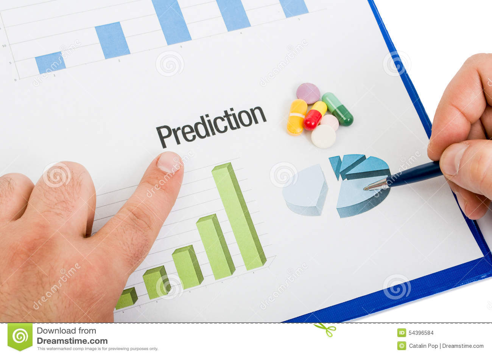 Carta medicinal de la predicción de las ventas de las píldoras