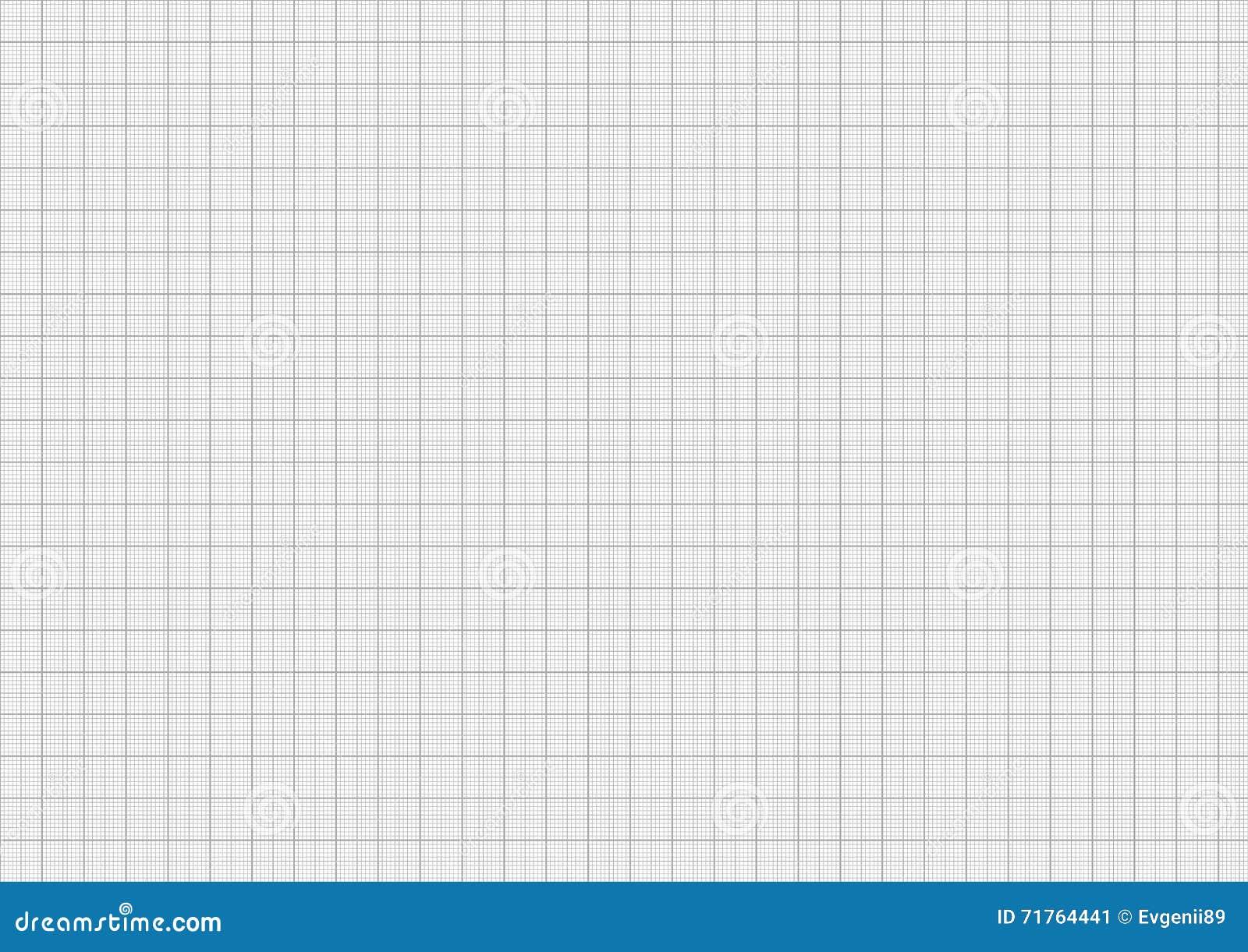 carta millimetrata grigia di colore sulla dimensione dello strato a4 illustrazione di stock