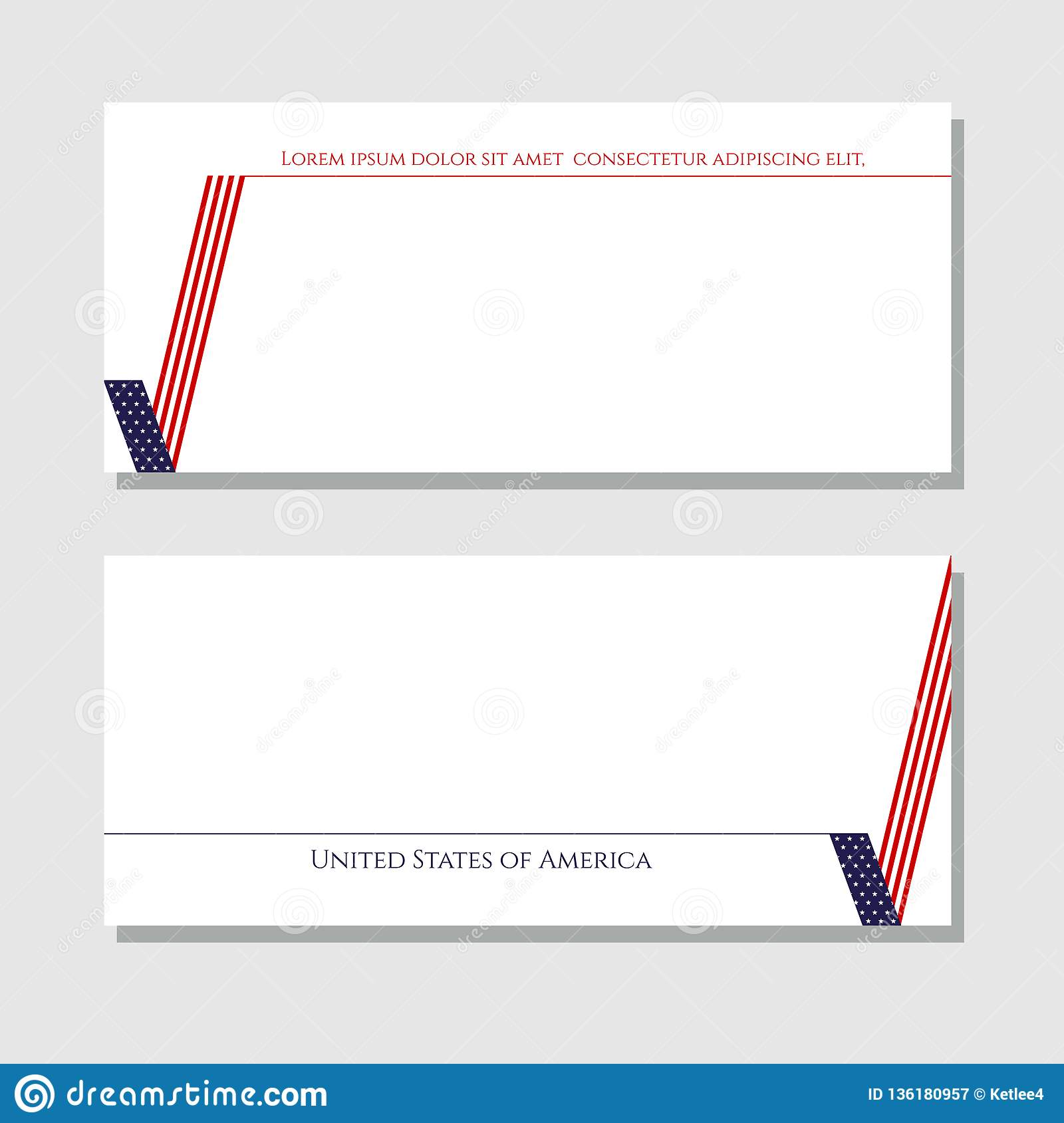 Carta patriottica del segno della verifica degli antecedenti con l elemento di progettazione della bandiera americana per gli opu