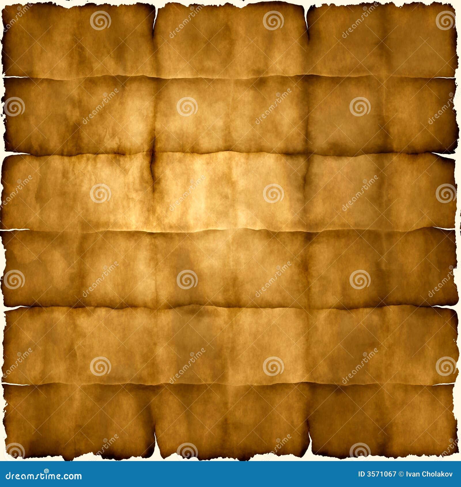 Carta pergamena piegata
