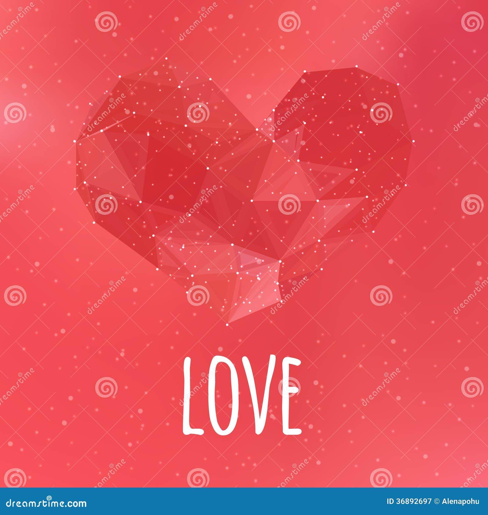 Download Carta Triangolare Del Cuore Di Amore Illustrazione Vettoriale - Illustrazione di cuore, grafico: 36892697