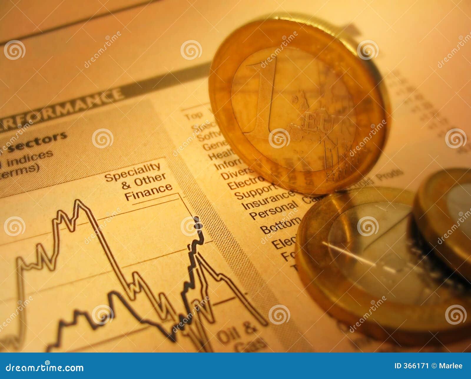 Carta y monedas financieras