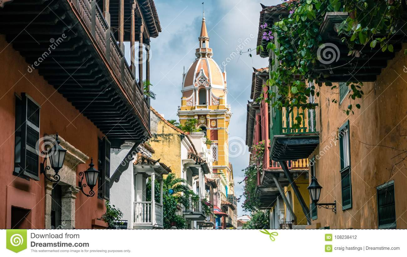 Cartagena City Cathedral Church Colombia South America