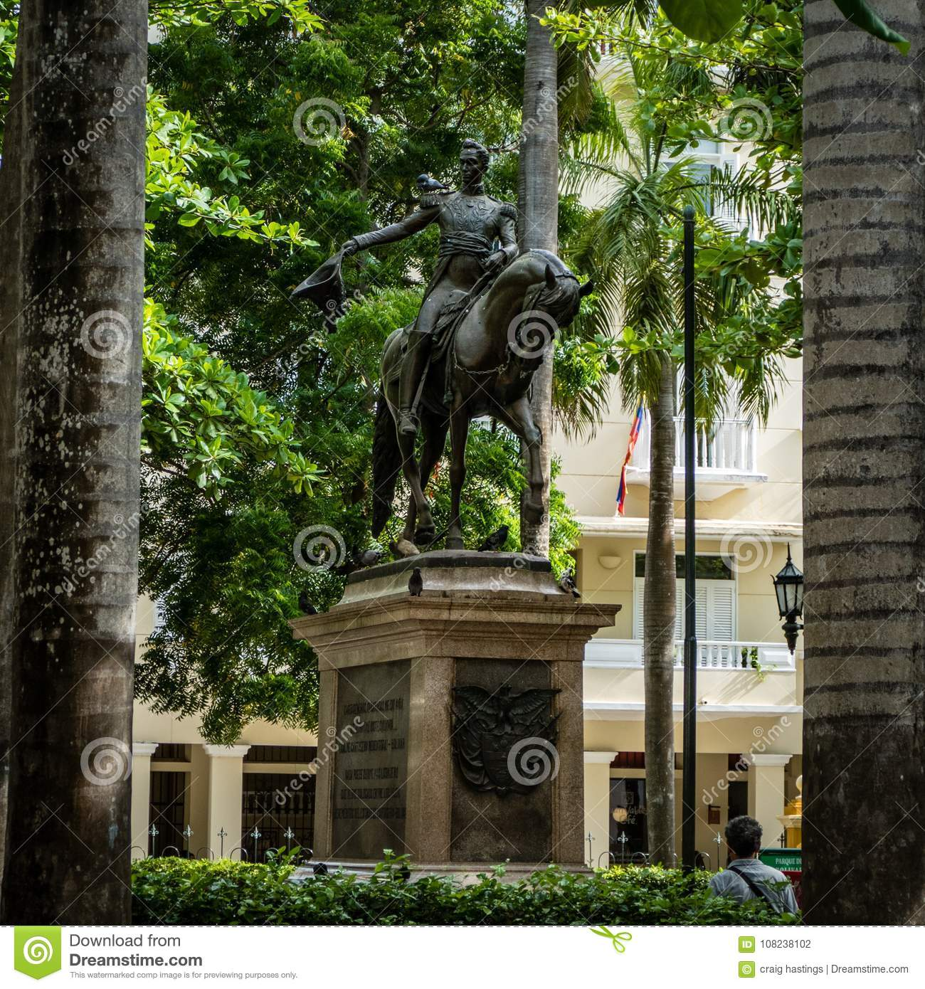 Cartagena City Statue Colombia South America