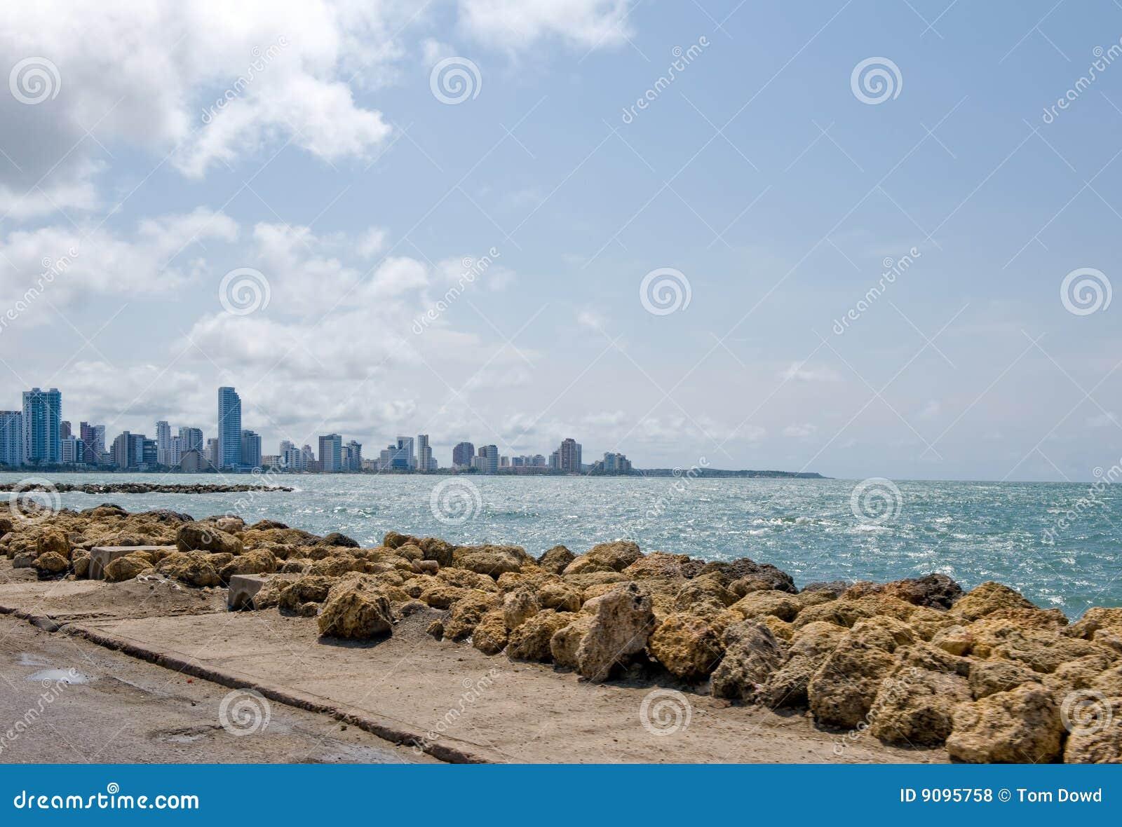 Cartagena-Stadtküstenlinie