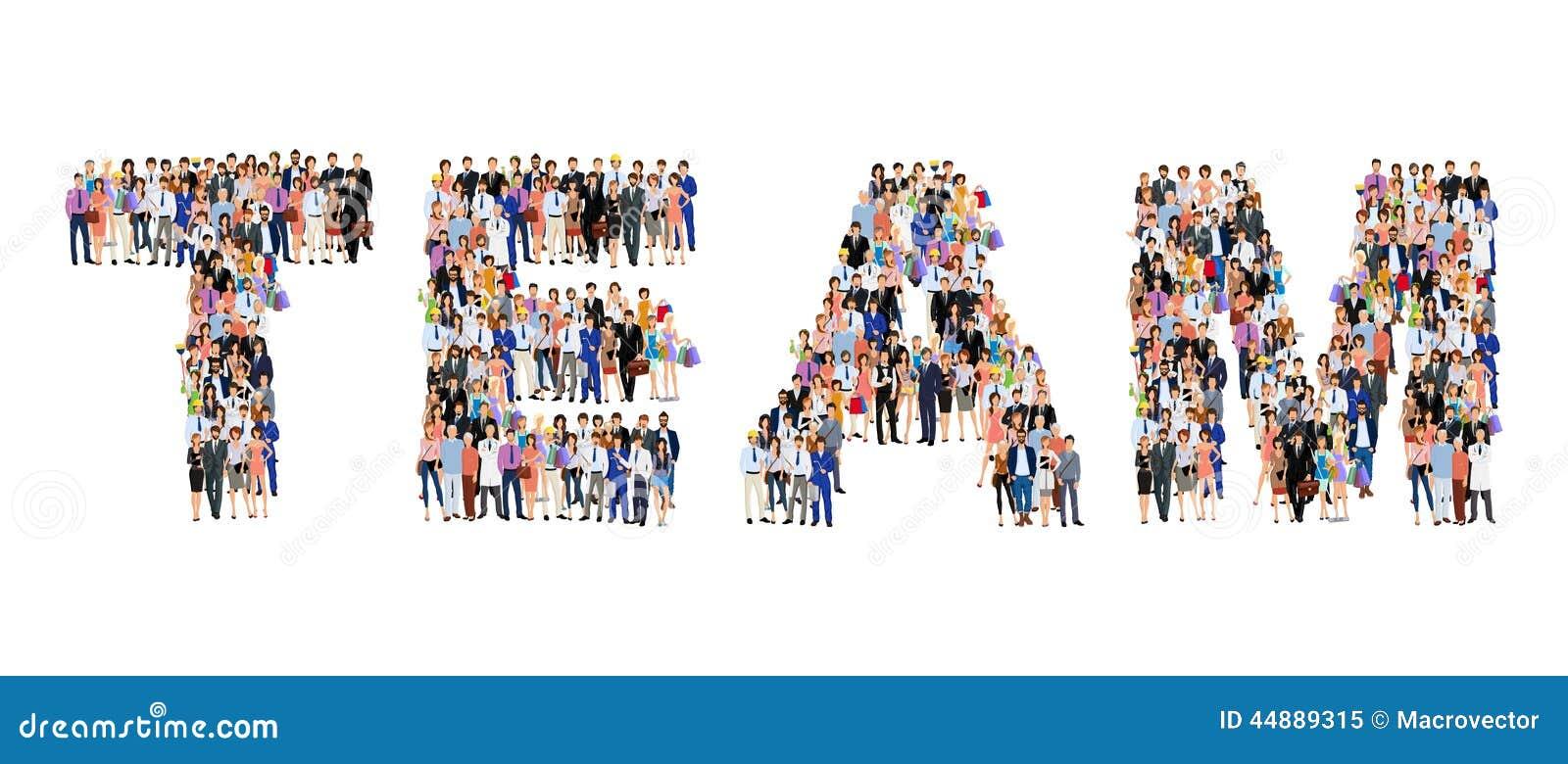 Cartaz da equipe do grupo de pessoas
