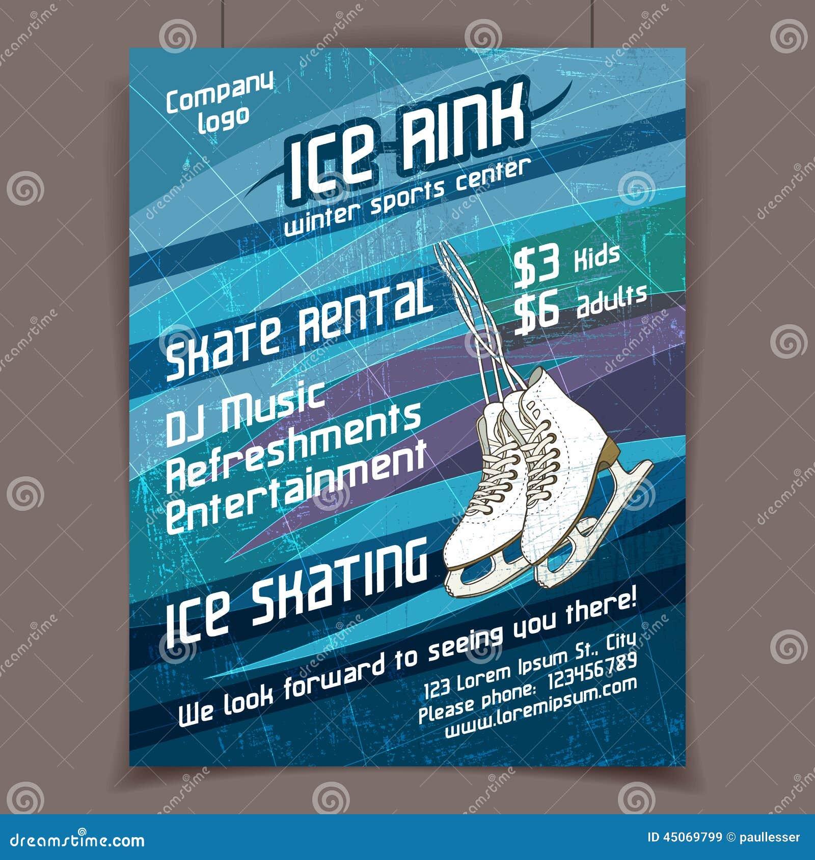 Cartaz da propaganda da pista de gelo