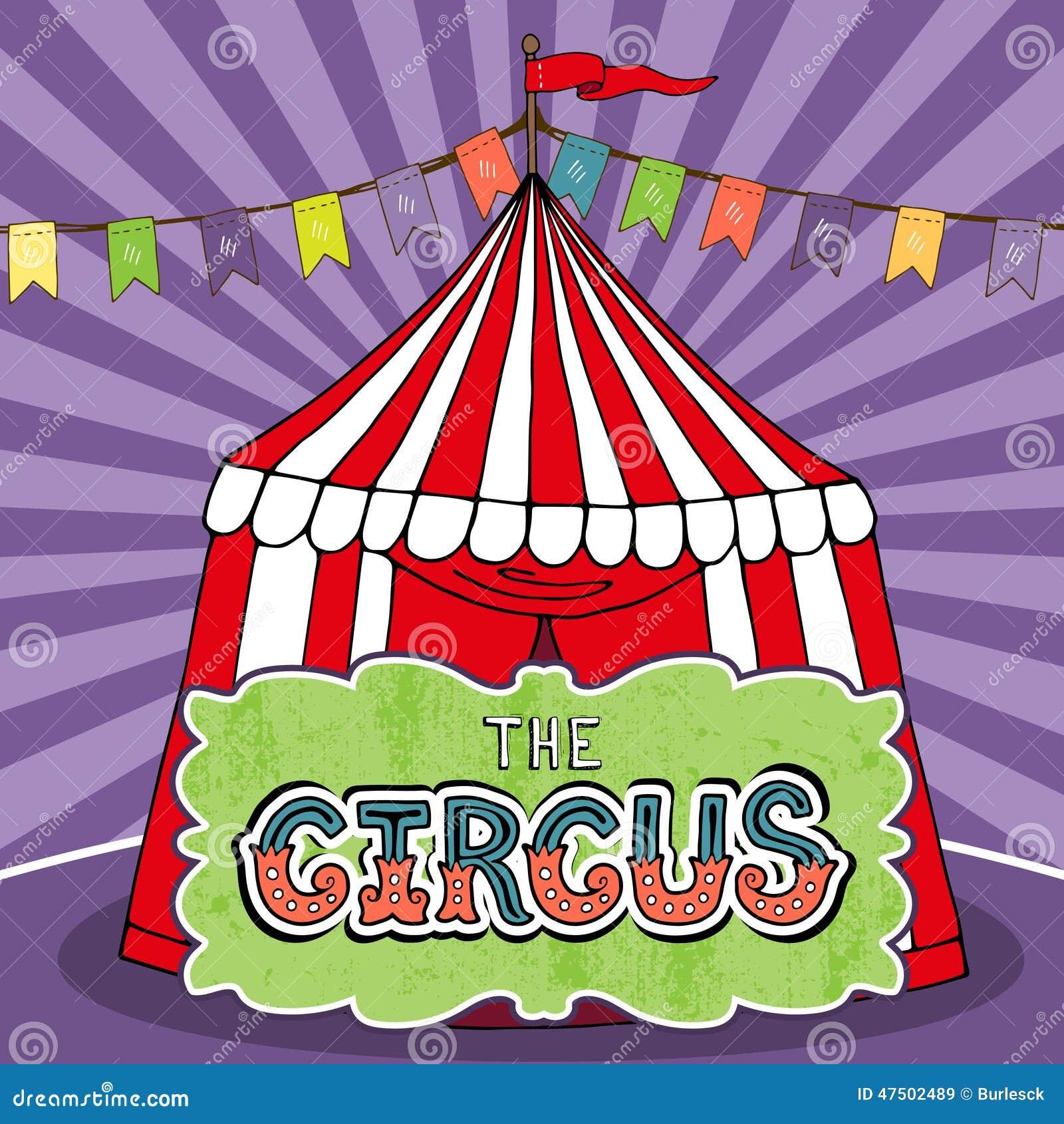 Cartaz da tenda do circus