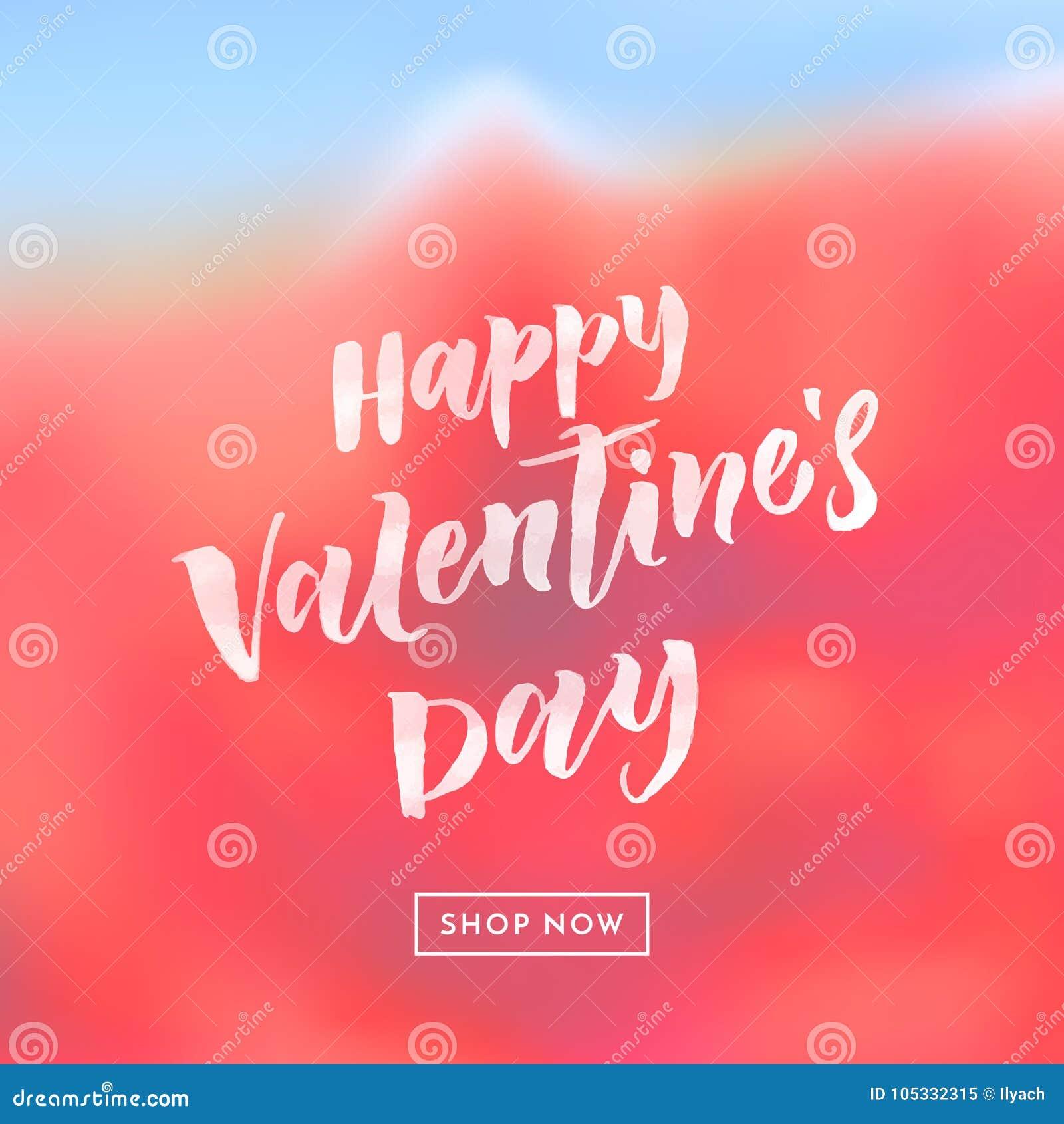 Cartaz da venda de Valentine Day ou molde do projeto da bandeira Vector o fundo cor-de-rosa vermelho da flor para a venda da esta