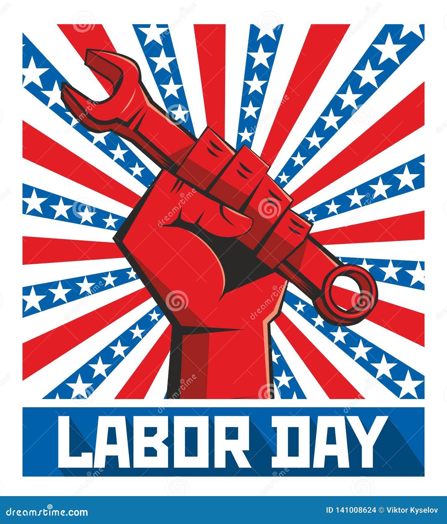 Cartaz do Dia do Trabalhador retro